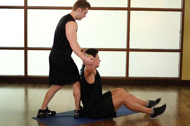 Упражнение со страховкой