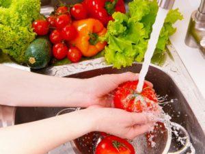 промывка фруктов и овощей