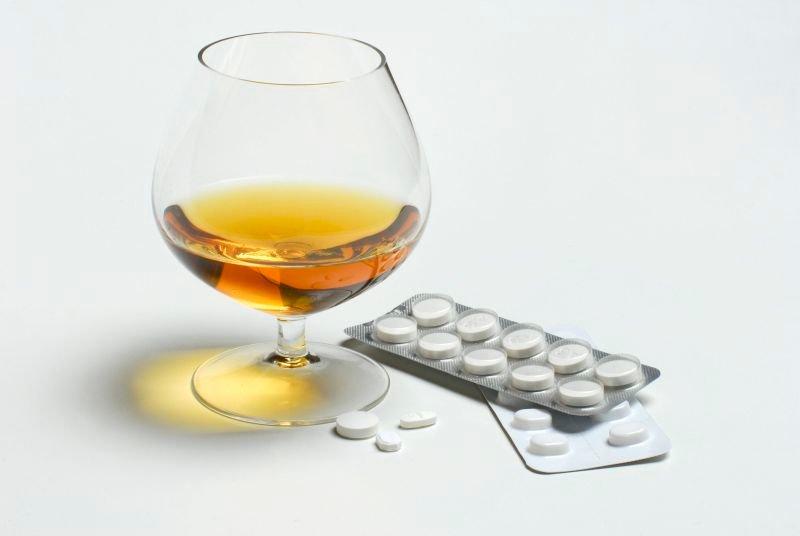 Коньяк и таблетки